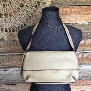 Pebbled Leather Bag THE SAK w/Tassel Ivory